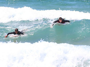 Louis and Liam from One Direction go surfing at Whale Beach in Sydney, Australia