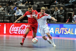 Turkey v Russia - UEFA Futsal EURO 2012 Final Tournament - Group C